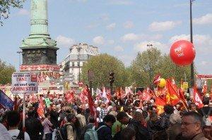 La Bastille, manifestation pour la 6è république 5 mai 2013